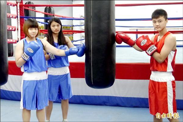 梁家婕、陳鈺茹、王思婷(左至右)入選為國手。(記者邱芷柔攝)
