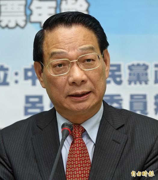 國民黨團修憲小組召集人呂學樟。(資料照,記者簡榮豐攝)