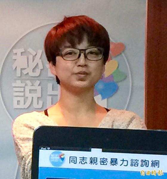 同志熱線諮詢協會文宣部主任呂欣潔。(資料照,記者陳炳宏攝)