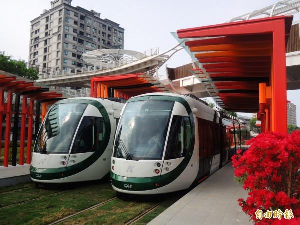 高雄環狀輕軌C3車站完工,C1-C14車站名稱也正式出爐。(記者葛祐豪攝)