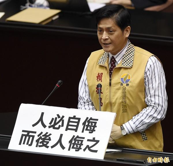 台灣團結聯盟立委賴振昌,今天在臉書上發文表示有持續關注台灣加入亞投行,並表態台聯黨絕不會接受這種喪權辱國的作法,也不會讓「馬區長」再這樣瞎搞下去。(資料照,陳志曲攝)