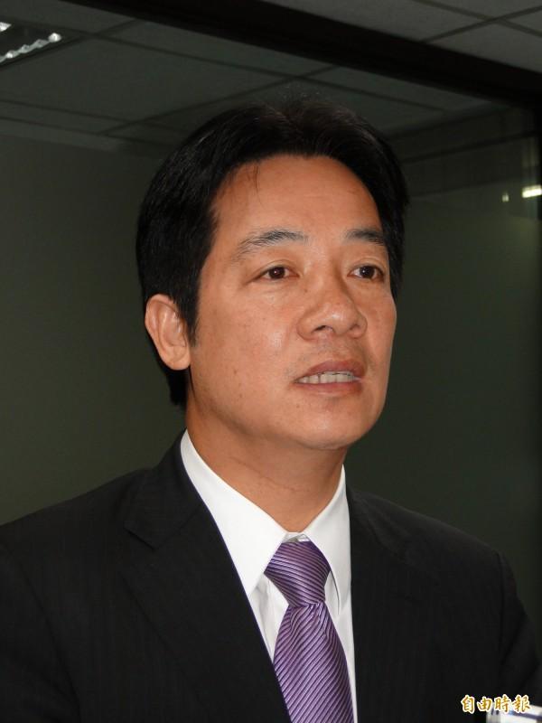 台南市長賴清德說,要不要參加亞投行,台灣社會應先好好討論。(資料照,記者洪瑞琴攝)