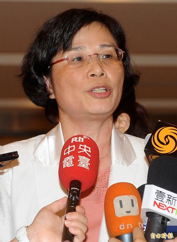 兩岸貨貿談判原訂的主談人國貿局長楊珍妮,在本輪談判竟然只能「在場邊提供意見」。(記者朱沛雄攝)