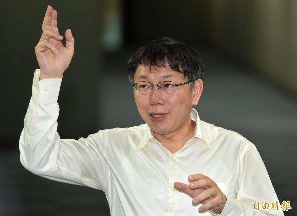 台北市長柯文哲上任後「嗡」不停,百日新政後,將開始調整腳步減少公開行程,將餘力拿來面對市議會的挑戰。(資料照,記者廖振輝攝)