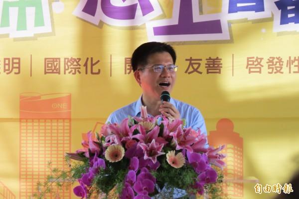 由於捷運工安意外,正在韓國首爾訪問的台中市長林佳龍決定提早結束行程,正趕往仁川機場搭機返國。(資料照,記者蘇金鳳攝)