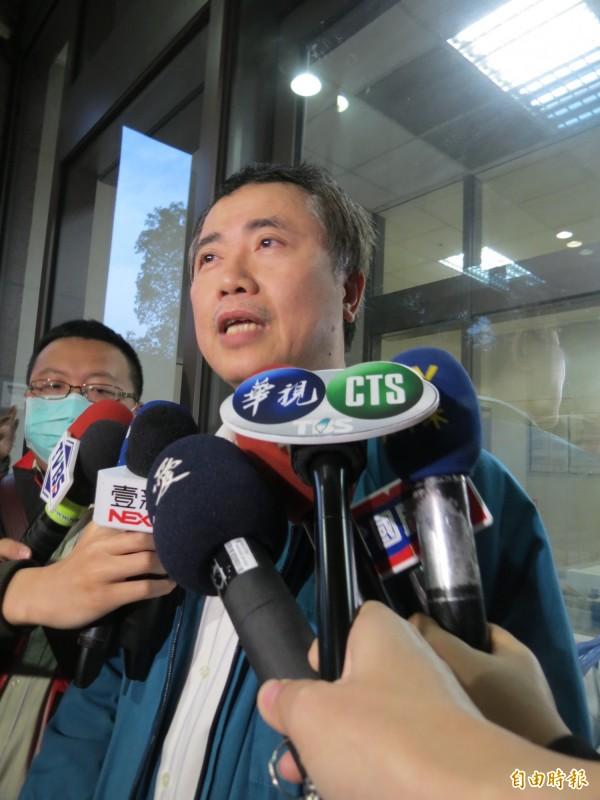 中市捷運意外,6名送中國附醫傷者有3人已搶救無效死亡。(記者蘇孟娟攝)