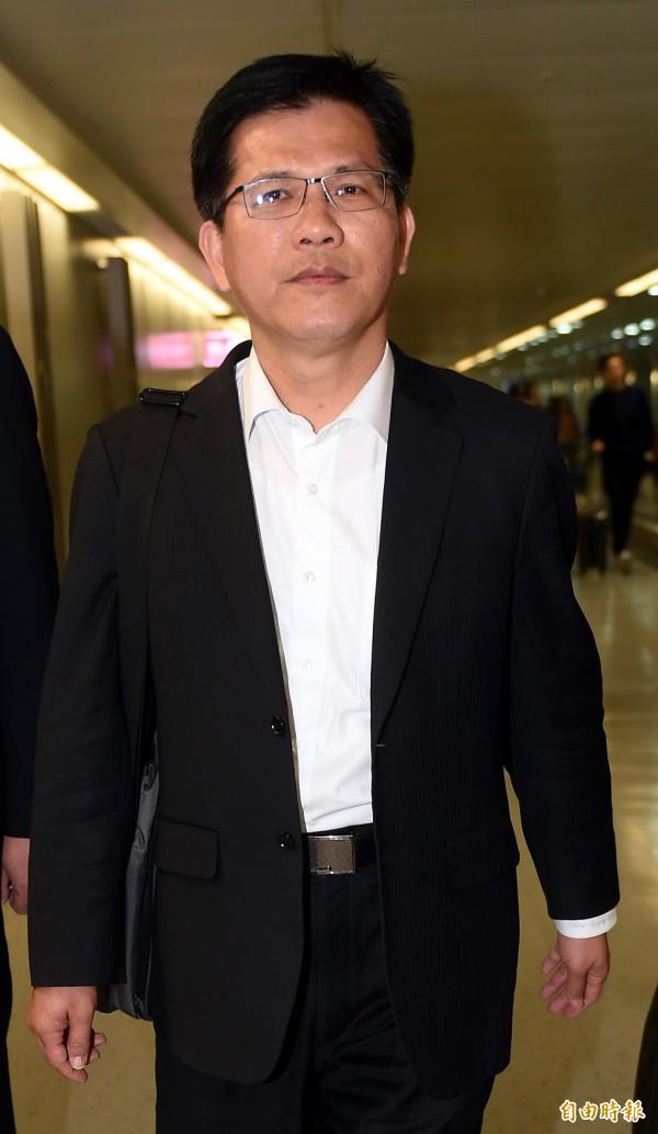 台中市長林佳龍澄清,並無要求台中捷運趕工,這次中捷發生工安意外,明顯與人為疏失有關。(記者朱沛雄攝)