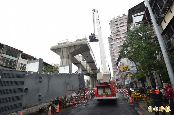 台中捷運工程鋼樑掉落釀4死悲劇,意外讓台中捷運由台北市捷運局負責監造的特殊情況為大眾所知。(資料照,記者廖耀東攝)
