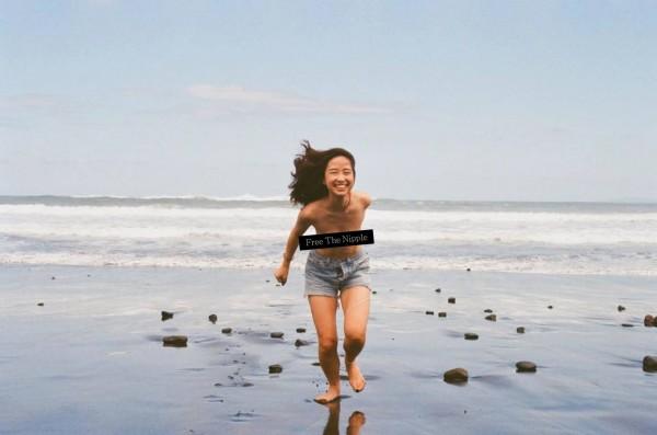 解放上空活動源自於一名冰島17歲女學生史馬拉達蒂兒,她主張女性應該要和男性一樣,有權利赤裸上身,而不是將女性的胸部視為性的象徵,台灣許多女性也紛紛響應。(照片擷自臉書「性解放の學姊 2.0」)