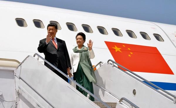 中國國家主席習近平(左)。(美聯社)