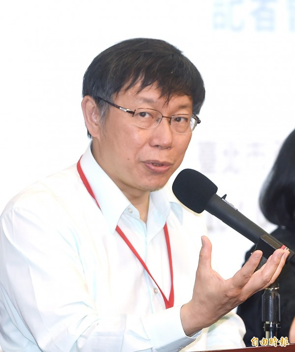 台北市長柯文哲21日出席市政會議記者會,並回答媒體記者提問。(資料照,記者方賓照攝)