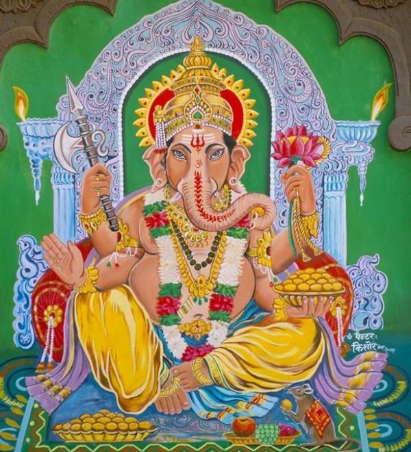 印度教中的智慧之神「象頭神」。(圖取自鏡報)