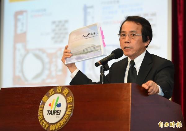 台北市副市長林欽榮就大巨蛋爭議槓上中央,質疑內政部刻意扭曲事實。(資料照,記者張嘉明攝)