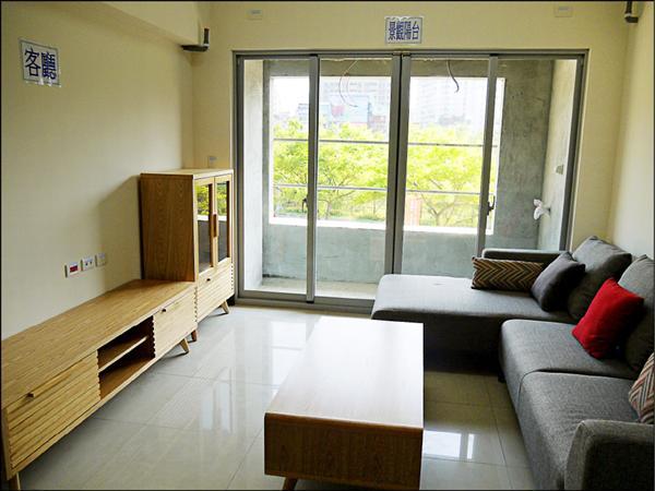 北大安置住宅每戶皆為三房二廳一衛的格局。(新北市政府城鄉發展局提供)