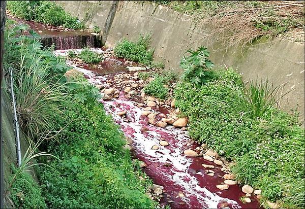 貴康公司第5度排放超標廢水,遭環保局罰300萬元並勒令停工。(新北市環保局提供)
