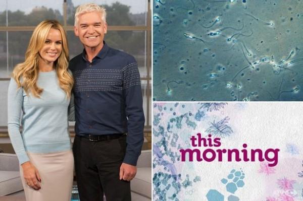 英國實境節目《This Morning》計畫下週一來為民眾解惑,找來民眾當眾在節目上示範,究竟精液對養顏美容到底有沒有用。圖為節目主持人。(圖取自鏡報)