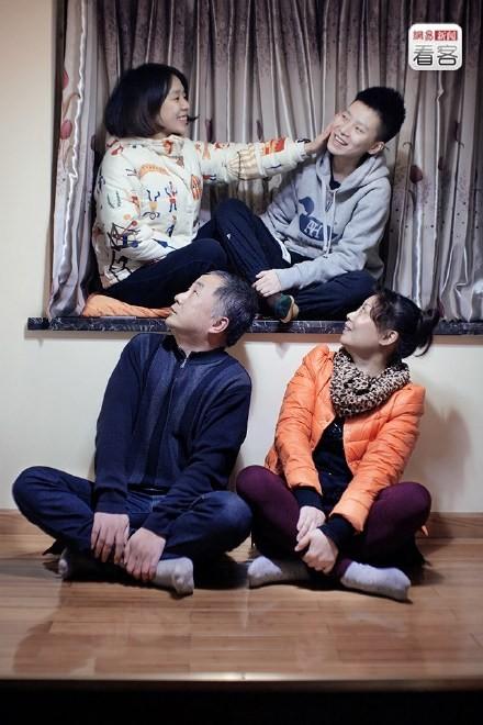 中國女孩馬婧拍攝同性戀者群像作品。(圖擷自微博)