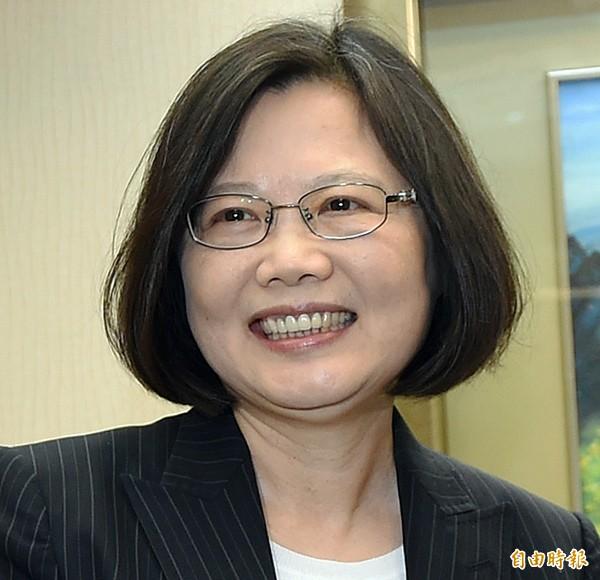 民進黨主席蔡英文。(資料照,記者廖振輝攝)