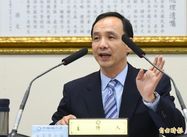 新北市長兼國民黨主席朱立倫下月初將赴中國參加國共論壇,並與中國國家主席習近平舉行「朱習會」。(記者張嘉明攝)