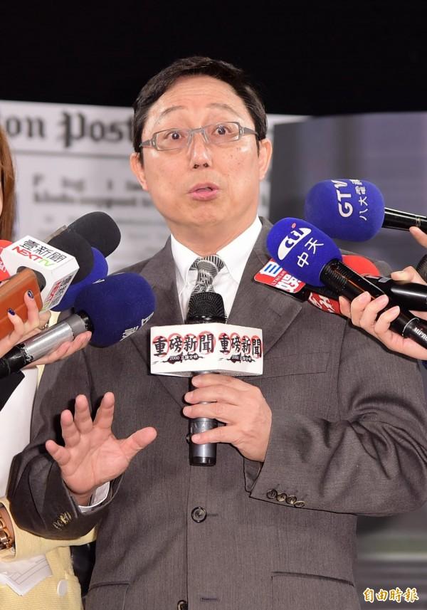 面對洪秀柱的邀請,姚立明說,「等她被正式提名時再說」。(資料照,記者胡舜翔攝)