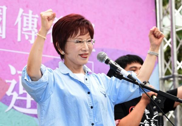 洪秀柱認為蔡英文、民進黨不贊同「九二共識」會把臺灣推向苦難。(資料照,記者羅沛德攝)
