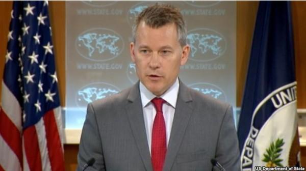 中國新推出的網路監控利器「網路大砲(Great Cannon)」,攻擊美國網站並使其癱瘓,美國國務院發言人拉特基(Jeff Rathke)要求中國當局展開調查。(圖擷自美國國務院)