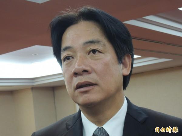 台南市長賴清德重砲批判執政當局假課綱微調之名,行打壓台灣為本思想之實。(記者洪瑞琴攝)