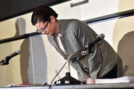 日本麥當勞執行長卡莎諾因虧損遭減薪20%,出面道歉。(法新社)