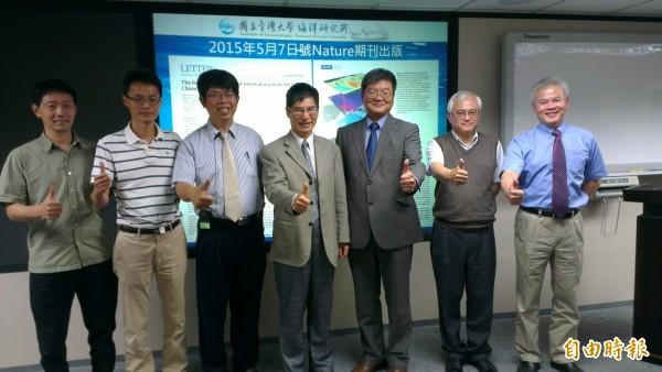 台灣大學海洋研究所與美國合作,歷經15年心血研究南海巨大內波的生命歷程,刊登《自然》期刊。(記者湯佳玲攝)