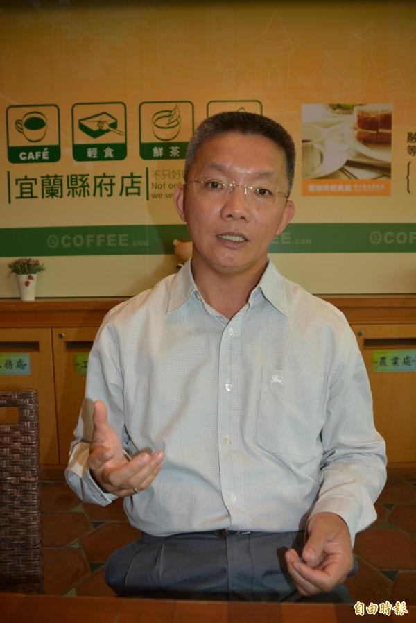 國民黨中常會通過徵召李志鏞,代表國民黨參選宜縣立委。(記者游明金攝)