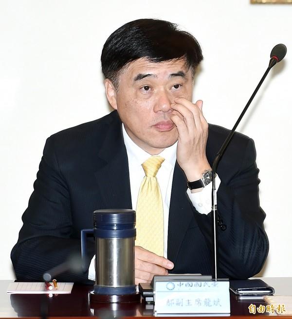 汪潔民表示,他希望前台北市長郝龍斌(見圖)能出面解釋一下,怎麼可以干預媒體對雙子星弊案的監督?(資料照,記者方賓照攝)