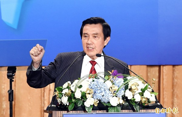 針對王金平今天宣布不參與國民黨總統提名初選,馬英九透過總統府發言人表示「充分尊重王院長的決定」。(記者方賓照攝)