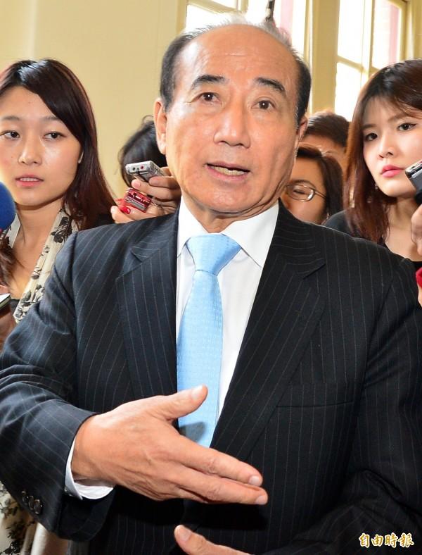 立法院長王金平宣布不領表、不參與初選。(記者王藝菘攝)