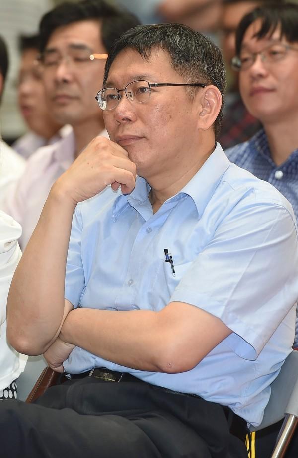 柯文哲今天有感而發表示,台灣停滯不前的原因,就是有一個不被人民信任的政府。(資料照,記者廖振輝攝)