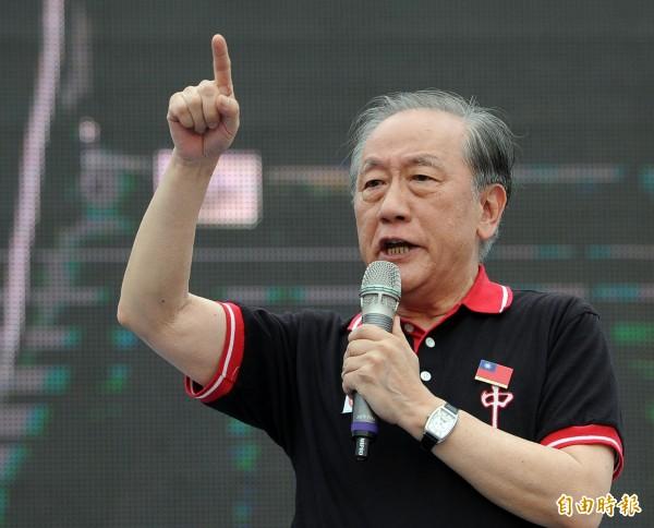 有媒體報導,新黨主席郁慕明表示,明年立委新黨將會提名10席立委,7席會採取「青年刺客」方式。(資料照,記者王敏為攝)