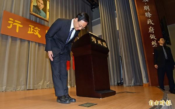 前行政院長江宜樺(左)。(資料照,記者羅沛德攝)