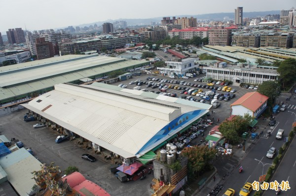 三重果菜市場都市計畫變更案,今天通過內政部都市計畫委員會審議。(記者賴筱桐攝)