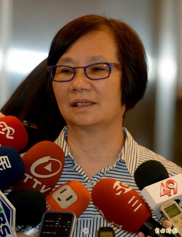 國民黨立委羅淑蕾在爭取立委黨內初選落敗,質疑旺中媒體集團對她追殺。(資料照,記者林正堃攝)