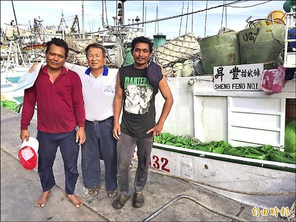 日前被扣押在菲律賓的昇豐十二號,昨天凌晨回東港,今天將再出海。(記者陳彥廷攝)