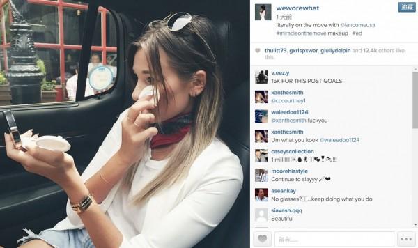 Instagram經濟發酵,不少人氣紅人受廠商青睞,分享一張照片最高能得到300萬台幣酬勞。(擷取自weworewhat Instagram帳號)