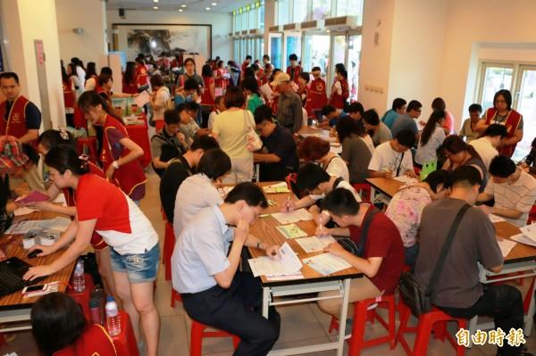 北市就業服務處將於28日舉辦就業博覽會。(資料照,記者郭顏慧攝)
