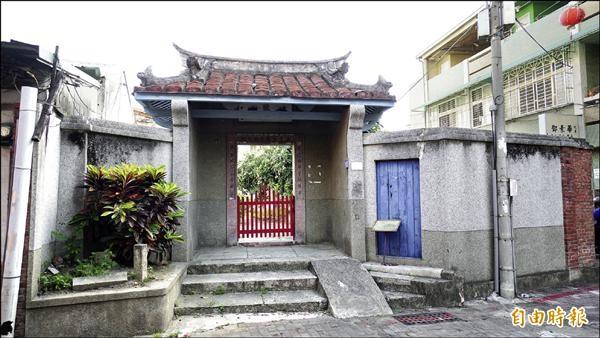 歷史可追溯到康熙年間的陳世興古宅,被文化局列為指定古蹟。(記者黃欣柏攝)