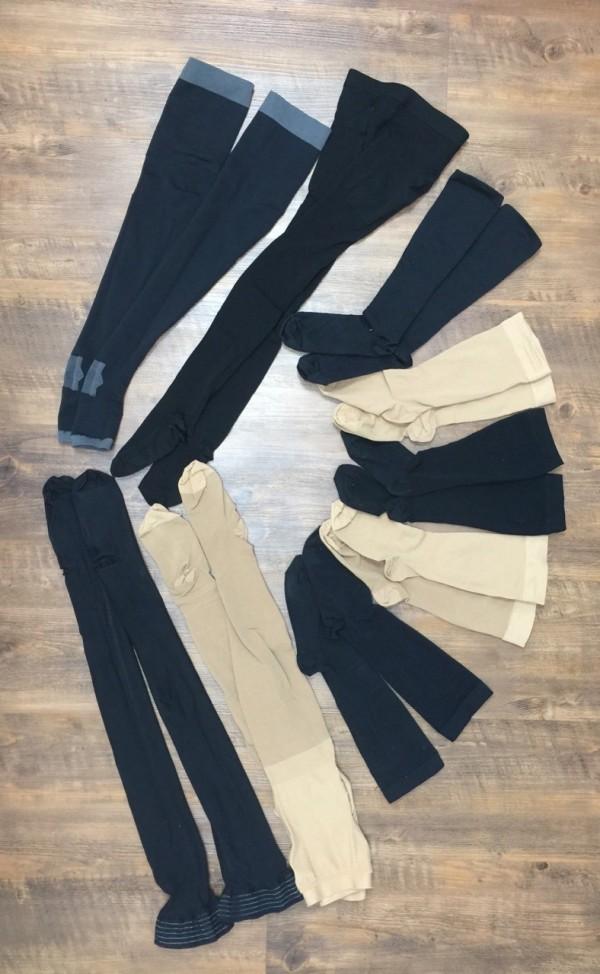 心臟外科醫師陳建彰隨機抽檢市面6品牌8款彈性襪,僅3款合格,其他不是壓力不足就是壓力曲線錯誤,沒有漸進式壓力。(記者蔡淑媛翻攝)