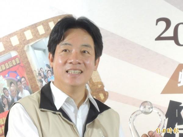 賴清德連莊榮獲最高5星寶座。(資料照,記者洪瑞琴攝)