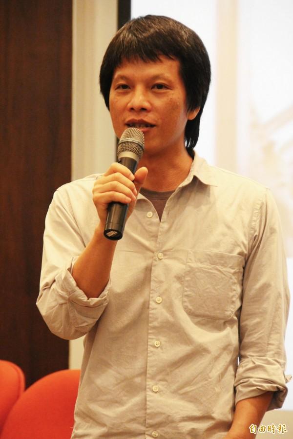 林靖傑說,政府鼓勵兩岸合拍,是莫大的謬誤。(記者林宜樟攝)