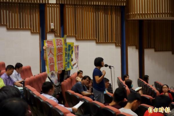 教育部國教署召開「12年國教5年精進計畫」草案公聽會,現場約60多名家長、團體等各界人與會,熱烈討論教育議題。(記者吳柏軒攝)