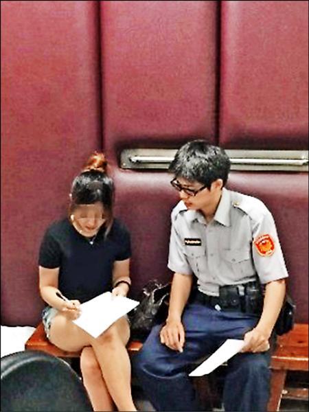 駱姓女子酒駕被逮。(記者林良昇翻攝)