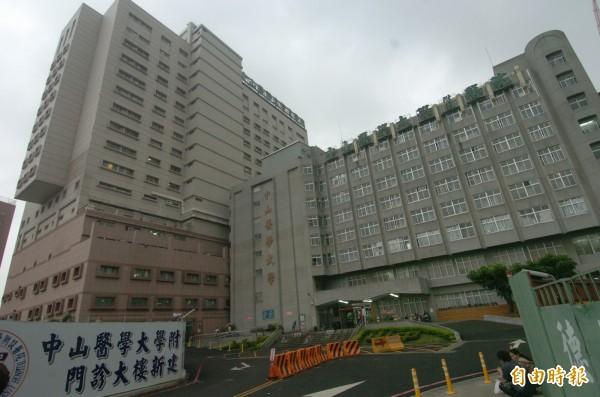 台中市中山醫學大學附設醫院。(資料照,記者廖耀東攝)