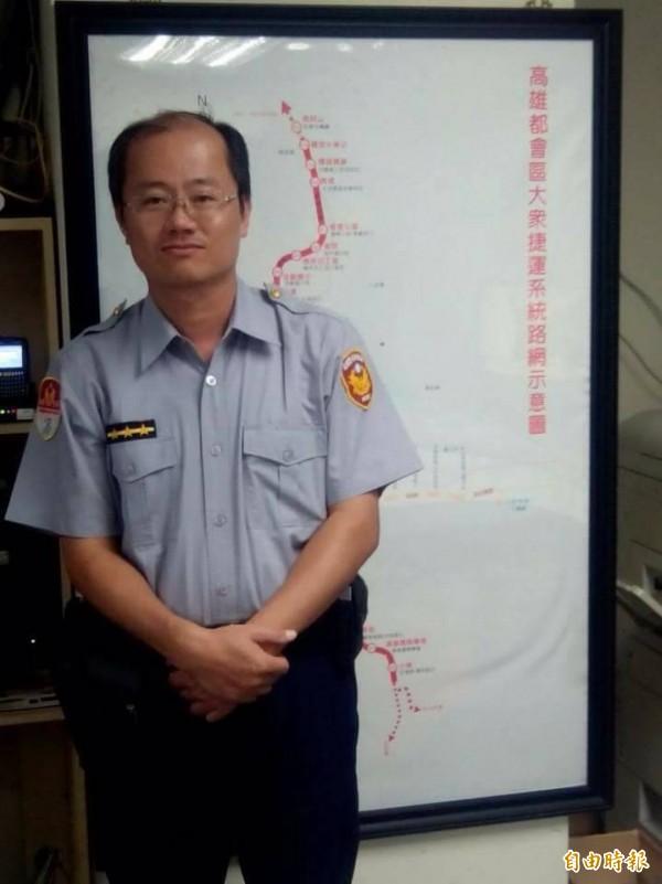 捷運警察王元良。(記者葛祐豪攝)