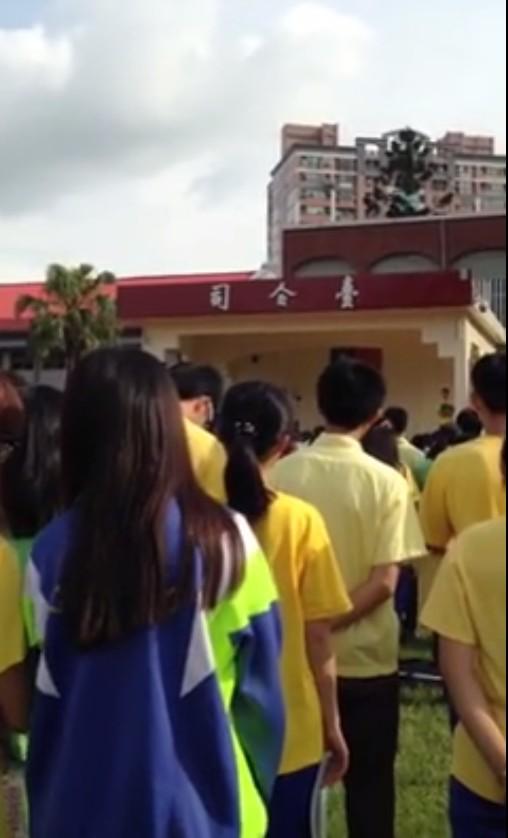 武陵高中校長林清波傳出在升旗時教訓反黑箱課綱學生。(圖擷取自臉書)